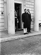 12/08/1952<br /> 08/12/1952<br /> 12 August 1952<br /> Mr B.G. Kher, Indian Ambassador to Ireland presents his Credentials to President Sean T. O'Kelly at Aras an Uachtaran.