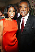 l to r: Michelle Ebanks(Honoree) and Re. Al Sharpton at Rev. Al Sharpton's 55th Birthday Celebration and his Salute to Women on Distinction held at The Penthouse of the Soho Grand on October 6, 2009 in New York City