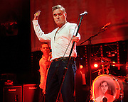 """BETHESDA, MD, DC - January 16th, 2013 - British music legend Morrissey performs at the Strathmore Music Hall with Solomon Walker. His set included solo hits like """"Everyday Is Sunday"""" as well as material from The Smiths, such as """"Still Ill.""""( Photo by Kyle Gustafson/For The Washington Post)"""
