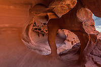 Mini arch formation in the Valley of Fire.