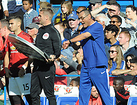 Football - 2018 / 2019 Premier League - Chelsea vs. Manchester United<br /> <br /> Confusion as Manchester United make substitutions, as Chelsea Manager, Maurizio Sarri complains about the length of time taken, at Stamford Bridge.<br /> <br /> COLORSPORT/ANDREW COWIE