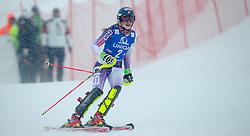 29.12.2014, Hohe Mut, Kühtai, AUT, FIS Ski Weltcup, Kühtai, Slalom, Damen, 2. Durchgang, im Bild Siegerin Mikaela Shiffrin (USA) // Winner Mikaela Shiffrin of the USA reacts after 2nd run of Ladies Giant Slalom of the Kuehtai FIS Ski Alpine World Cup at the Hohe Mut Course in Kuehtai, Austria on 2014/12/29. EXPA Pictures © 2014, PhotoCredit: EXPA/ JFK
