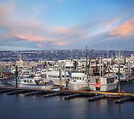 Fishing Boats In Harbor At Homer Alaska, Kenai Peninsula, USA