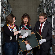 25.08. 2017.                                                      <br /> Limerick City and County Council Archives have become available in digitised Online platform. <br /> Pictured at Lissalta House in the Limerick City and County Council Archive were, Sharon Slater, Limerick City and County Council Historian, Jacqui Hayes, Limerick City and County Council Archivist and William O'Neill, Limerick Archives and UL Scholar. Picture: Alan Place