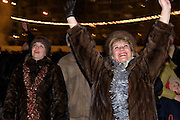Moscow, Russia, 01/01/2006..Russians celebrate the lengthy New Year and Orthodox Christmas holidays. Greeting the New Year in Lefoerovo Park in central Moscow.