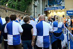 Bristol Rovers fans outside Stamford Bridge - Mandatory by-line: Dougie Allward/JMP - 23/08/2016 - FOOTBALL - Stamford Bridge - London, England - Chelsea v Bristol Rovers - EFL Cup second round