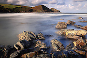 Geology at Crackington Haven beach in north Cornwall