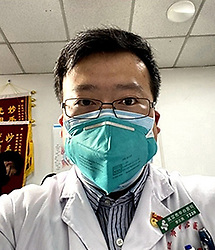 December 31, 2019, Wuhan, China: LI WENLIANG, 33, sent a warning about seven people with a 'mysterious illness' to an online chat. Li told his medical school alumni group that seven patients from a local seafood market had been diagnosed with a SARS-like illness in early December of 2019. (Credit Image: © Dr. Li Wenliang via ZUMA Wire)