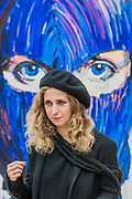 Maria Alyokhina from Pussy Riot in front of Pussy Icons 2013 by Lucy Djanyan  - Art Riot: Post-Soviet Actionism, at the Saatchi Gallery: An exhibition dedicated to Post-Soviet protest art over the past 25 years it displays various genres of protest art, from posters and slogans to video art, staged photography and performances. It raises questions about artistic freedom, exploring what it means to be an artist in the Post-Soviet Union today. It is curated by Marat Guelman and presented by the Tsukanov Family.