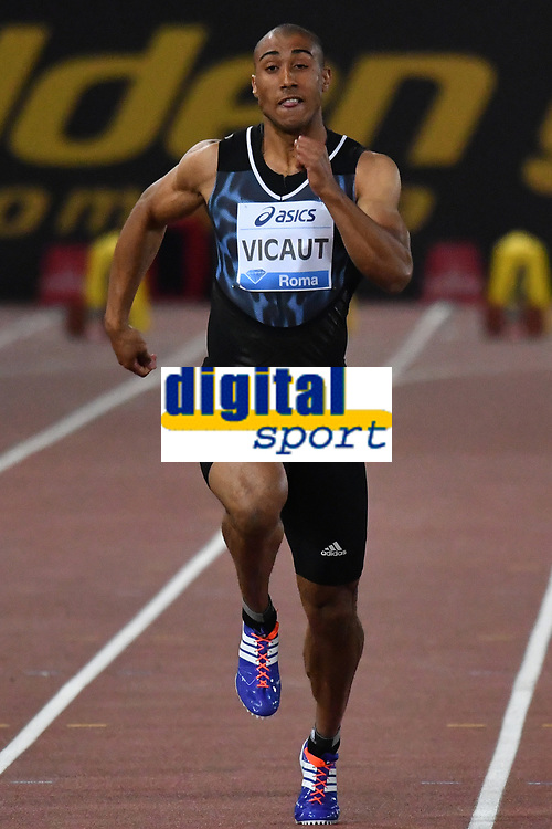 Jimmy VICAUT FRA 100m Men <br /> Roma 03-06-2016 Stadio Olimpico <br /> IAAF Diamond League Golden Gala <br /> Atletica Leggera<br /> Foto Andrea Staccioli / Insidefoto