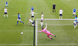 Jonson Clarke-Harris of Peterborough United shoots at goal against Oxford United - Mandatory by-line: Joe Dent/JMP - 17/10/2020 - FOOTBALL - Weston Homes Stadium - Peterborough, England - Peterborough United v Oxford United - Sky Bet League One
