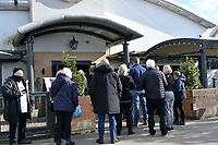 Football - 2020 / 2021 Sky Bet Championship - Play-offs - Semi-final, second leg - Swansea City vs Barnsley - Liberty Stadium.<br /> <br /> fans queue for a drink at the stadium pub before the first game with fans at swansea since the start of the Coronavirus Act 2020<br /> <br /> COLORSPORT/WINSTON BYNORTH