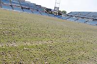 Upgrading works Lawn Alfoso Perez Coliseum. June 24, 2015. (ALTERPHOTOS/Acero)