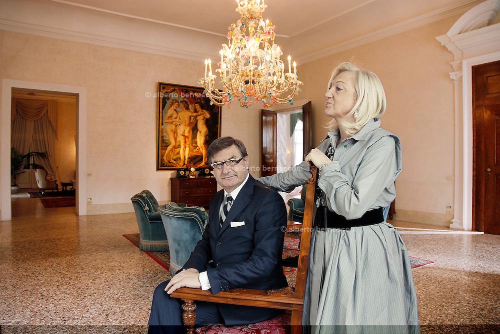 MARIO MORETTI POLEGATO, presidente fondatore GEOX scarpe, con la Moglie Anna Licia Balzan.