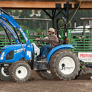 JR works the arena before the 2016 Darby MT EPB.  Josh Homer photo.  Photo credit must be given on all uses.