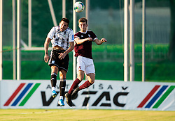 Luka Šušnjara of Mura vs Kristjan Arh Česen of Triglav during football match between NK Triglav and NS Mura in 5th Round of Prva liga Telekom Slovenije 2019/20, on August 10, 2019 in Sports park, Kranj, Slovenia. Photo by Vid Ponikvar / Sportida