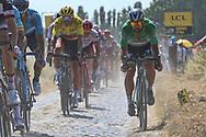 Peter Sagan (SVK - Bora - Hansgrohe), Greg Van Avermaet (BEL - BMC) during the 105th Tour de France 2018, Stage 9, Arras Citadelle - Roubaix (156,5km) on July 15th, 2018 - Photo Ilario Biondi / BettiniPhoto / ProSportsImages / DPPI