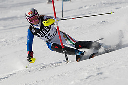 21.12.2010, Stade Emile Allais, Courchevel, FRA, FIS World Cup Ski Alpin, Ladies, Slalom, im Bild Manuela Moelgg (ITA) attacks a control gate whilst competing in the FIS Alpine skiing World Cup ladies slalom race in Courchevel 1850, France. EXPA Pictures © 2010, PhotoCredit: EXPA/ M. Gunn