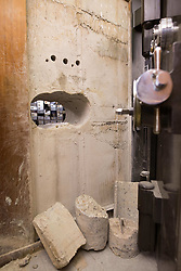 EDITORIAL USE ONLY<br /> The holes drilled to gain access to the Hatton Garden Safe Deposit, in Hatton Garden, London, which was at the centre of a high profile heist in 2015 by a gang of career criminals who stole £14 million worth of jewels.
