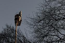 A general view of a floodlight at Loftus Road from the street - Photo mandatory by-line: Dougie Allward/JMP - Mobile: 07966 386802 - 04/03/2015 - SPORT - football - London - Loftus Stadium - Queens Park Rangers v Arsenal - Barclays Premier League