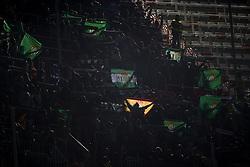 February 28, 2019 - Valencia, Valencia, Spain - Supporters of Betis during the Copa del Rey Semi Final match second leg between Valencia CF and Real Betis Balompie at Mestalla Stadium in Valencia, Spain on February 28, 2019. (Credit Image: © Jose Breton/NurPhoto via ZUMA Press)
