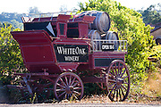 Old wine wagon in Napa Valley
