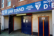 General view of the Oak Stand entrance to the Kenilworth Road stadium before the EFL Sky Bet League 1 match between Luton Town and Coventry City at Kenilworth Road, Luton, England on 24 February 2019.