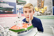 27/11/2016 REPRO FREE:    Conchuir Deeley (8)from Woodlawn enjoy the Marine Institute exhibition inNUI Galway as part of the Galway Science & Technology Festival.<br /> <br /> Photo: Andrew Downes, Xposure.