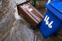 © Licensed to London News Pictures. 06/10/2020. Bury, UK. Houses and roads flood on Tottington Road in Bury after drainage systems are overwhelmed by the volume of water and blockages in the wake of persistent, heavy rain . Photo credit: Joel Goodman/LNP