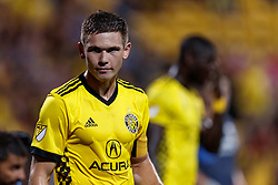 September 1, 2018 - Columbus, OH, U.S. - COLUMBUS, OH - SEPTEMBER 01: Wil Trapp (6) of Columbus Crew SC looks on in the MLS regular season game between the Columbus Crew SC and the New York City FC on September 01, 2018 at Mapfre Stadium in Columbus, OH. The Crew won 2-1. (Photo by Adam Lacy/Icon Sportswire) (Credit Image: © Adam Lacy/Icon SMI via ZUMA Press)