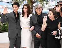 Kim Kang-woo, Kim Hyo-jin, Im Sang-soo, Youn Yuh-jung,  at The Taste of Money photocall at the 65th Cannes Film Festival France. Saturday 26th May 2012 in Cannes Film Festival, France.