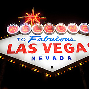 the famous 'welcome to Las Vegas' sign.