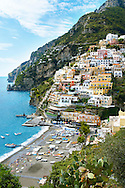 Positano town - Amalfi caost - Italy .<br /> <br /> Visit our ITALY HISTORIC PLACES PHOTO COLLECTION for more   photos of Italy to download or buy as prints https://funkystock.photoshelter.com/gallery-collection/2b-Pictures-Images-of-Italy-Photos-of-Italian-Historic-Landmark-Sites/C0000qxA2zGFjd_k
