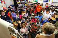 East Elementary teacher of 16 years, Betty Anne Miles says her classroom is to small and the walls are so thin she can hear the class nextdoor. Here she teaches second graders about the Civil Right Movement. There are 28 students in her class. Miles said that 20-22 students would be ideal for a classroom her size.