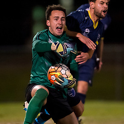 BRISBANE, AUSTRALIA - JULY 1:  during the NPL Queensland Senior Men's Round 16 match between Brisbane Strikers and Gold Coast City at Perry Park on July 1, 2017 in Brisbane, Australia. (Photo by Patrick Kearney/Olympic FC)