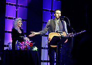 Folk legend JUDY COLLINS and her new singing partner ARI HEST, performed at the 28th Annual Folk Alliance International conference was held in Kansas City over the weekend. Folk artist from all over the world come to showcase their talent to the industry. The two have an album coming out this summer.