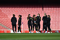 Football - 2021 / 2022 Women's Super League - Arsenal vs Chelsea - Emirates Stadium - Sunday 5th September 2021<br /> <br /> Chelsea players out on the pitch.<br /> <br /> COLORSPORT/Ashley Western