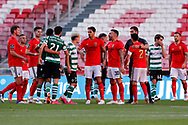Some arguments between players during the Liga NOS match between Benfica and Sporting Lisbon at Estadio da Luz, Benfica, Portugal on 15 May 2021.