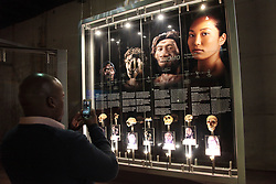 26/07/2018 <br /> A man seen taking a cellphone picture of the time line of the human being the last surviving spiecies in the genus Homo. Bones of Homo Naledi, Little Foot and Karabo were seen at The Crandle of Human Kind linked to the BRICS Summit to shocase for the first time ever, specimen Hominin( early human ancenstor) fossils on display, at Maropeng Cradle of the human kind, West Rand Gauteng.<br /> Picture: Nhlanhla Phillips/African News Agency/ANA