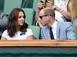 The Duke and Duchess of Cambridge visit the Wimbledon Championships and watch the Men's Final at The All England Lawn Tennis and Croquet Club, Wimbledon, in London, UK, on the 16th July 2017. 16 Jul 2017 Pictured: Catherine, Duchess of Cambridge, Kate Middleton, Prince William, Duke of Cambridge. Photo credit: James Whatling / MEGA TheMegaAgency.com +1 888 505 6342