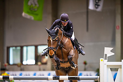 De Vos Silke, BEL, Grietje van de Hemelseschoot<br /> Klasse Licht<br /> Nationaal Indoor Kampioenschap Pony's LRV <br /> Oud Heverlee 2019<br /> © Hippo Foto - Dirk Caremans<br /> 09/03/2019