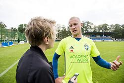 June 6, 2017 - Helsingborg, SVERIGE - 170606 Franz Brorsson intervjuas efter en trÅning med U21-landslaget i fotboll den 6 juni 2017 i Helsingborg  (Credit Image: © Ludvig Thunman/Bildbyran via ZUMA Wire)