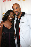 l to r: Common and Jael Gadsden at Common's Start the Show n' Bowl benefiting The Common Ground Foundation held at Hotel Sax on September 26, 2008 in Chicago, IL