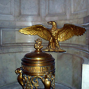 Eagle in Gilt decorating the crypt in the Basilica at Les Invallides, Paris surrounding the sarcophagus in the Tomb of Napoleon I.