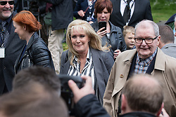 © Licensed to London News Pictures . 30/05/2015 . Manchester , UK . Beverley Callard arriving . A public memorial for Coronation Street actress Anne Kirkbride at Manchester Cathedral , who died on 19th January 2015 . Photo credit : Joel Goodman/LNP