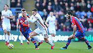 Sheffield United's Billy Sharp is challenged by Crystal Palace's James McArthur during the Premier League match at Selhurst Park, London. Picture date: 1st February 2020. Picture credit should read: Paul Terry/Sportimage