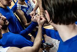 KK Sixt Primorska celebrating after basketball match between Basketball - KK Petrol Olimpija Ljubljana and KK Sixt Primorska in Round #7 of Liga Nova KBM za prvaka 2018/19, on April 11th, 2019 in Hala Tivoli, Slovenia Photo by Matic Ritonja / Sportida