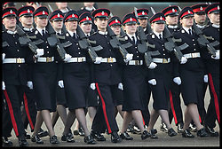 December 14, 2018 - Sandhurst, London, United Kingdom - Image licensed to i-Images Picture Agency. 14/12/2018. Sandhurst , United Kingdom. Officer cadets at the Sovereign's Parade at the Royal Military Academy Sandhurst, United Kingdom. (Credit Image: © Stephen Lock/i-Images via ZUMA Press)