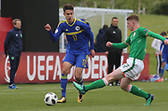 Malik Memisevic of Bosnia and Herzegovina (17) during the UEFA European Under 17 Championship 2018 match between Bosnia and Republic of Ireland at Stadion Bilino Polje, Zenica, Bosnia and Herzegovina on 11 May 2018. Picture by Mick Haynes.