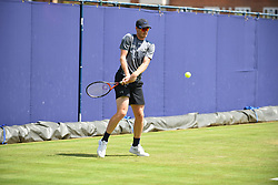 June 23, 2017 - London, United Kingdom - Jamie Murray of Great Britain practices at The Queen's Club, London on June 22, 2017. The players use the grass courts to train themselves before the start of Wimbledon Championships. (Credit Image: © Alberto Pezzali/NurPhoto via ZUMA Press)